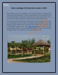Book a Package at the Best Picnic Spots near Delhi
