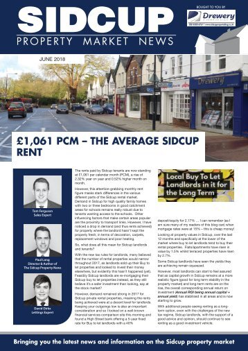 SIDCUP PROPERTY NEWS - JUNE 2018