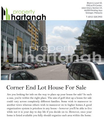 Corner End Lot House For Sale | Millerz Office Retail Space For Sale