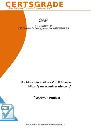 C_HANATEC_13 PDF Download Exam 2018