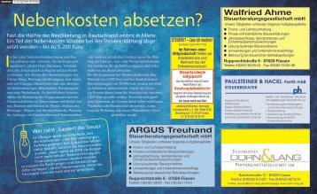 Steuerberatung in Füssen