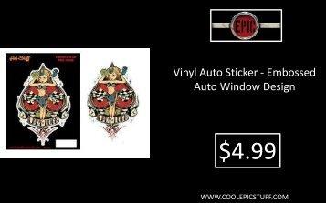 Vinyl Auto Sticker - Embossed Auto Window Design - Epic Vision LLC