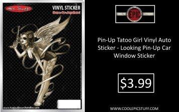 Pin-Up Tatoo Girl Vinyl Auto Sticker - Epic Vision LLC