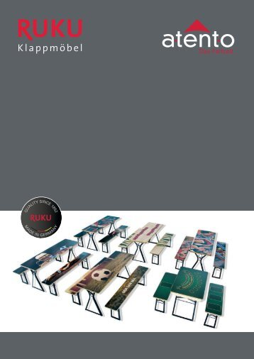 RUKUevent Catalogue digital print for folding furniture - 2018