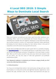 Local SEO 2018  5 simple ways to dominate local search