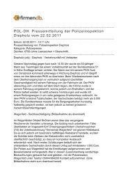 POL-DH: Pressemitteilung der Polizeiinspektion ... - Firmendb