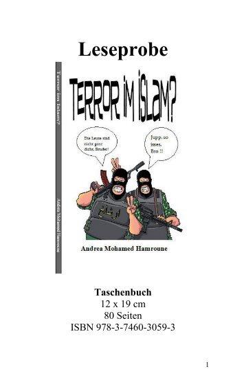 """Leseprobe """"Terror im Islam?"""" von Andrea Mohamed Hamroune"""