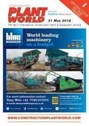 Construction Plant World 31st May 2018