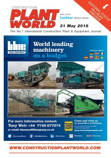 Construction Plant World 31st May 2018