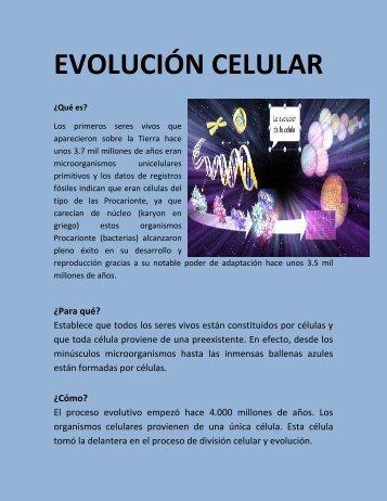 EVOLUCION CELULAR