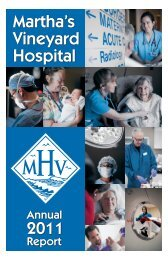 2011 MVH Annual Report - Martha's Vineyard Hospital