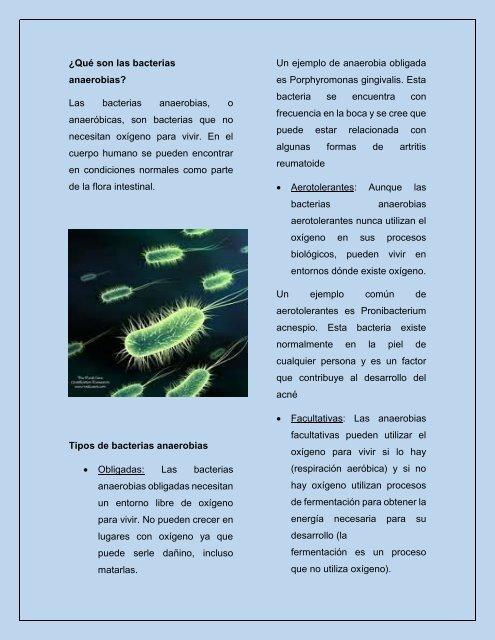 bacterias anaerobias de la piel