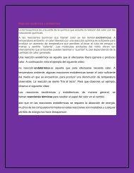 Reacción exotérmica y endotérmica 2