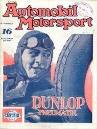 Automobil motorsport 1927 2. évfolyam 16. szám - EPA