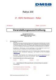 Rallye 200 Veranstaltungsausschreibung - Rallye200-info
