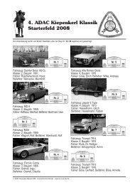 4. ADAC Kiepenkerl Klassik Starterfeld 2008 - Automobil-Club ...