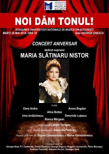 Concert aniversar Maria Slătinaru Nistor