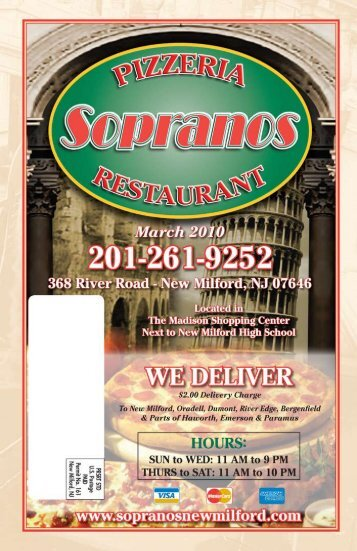 Sopranos New Milford - The Cowboy's Your Home Town Pages ...