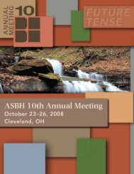 ASBH 10th Annual Meeting Registration - American Society for ...