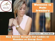 Buy Online Bangeles For Ladies in Mumbai at Cheap Cost