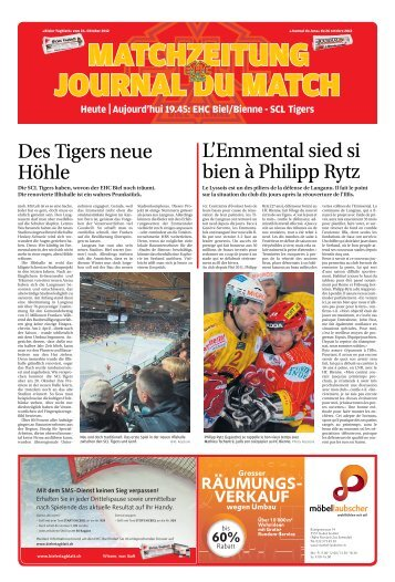 Heute Aujourd'hui 19.45: EHC Biel/Bienne - SCL ... - Journal du Jura