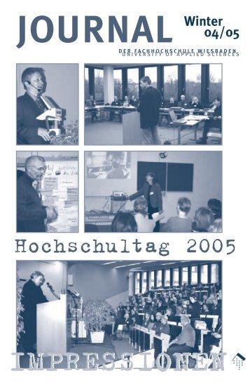 """""""journal"""" Winter 2004/2005"""