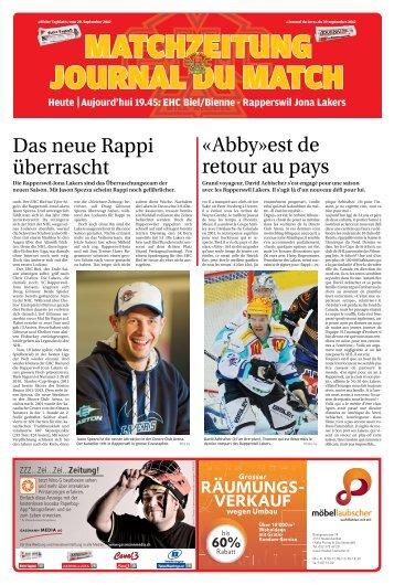 Heute Aujourd'hui 19.45: EHC Biel/Bienne ... - Journal du Jura