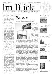 Im Blick Ausgabe 3/2012 - Evangelische Stadtkirchengemeinde ...