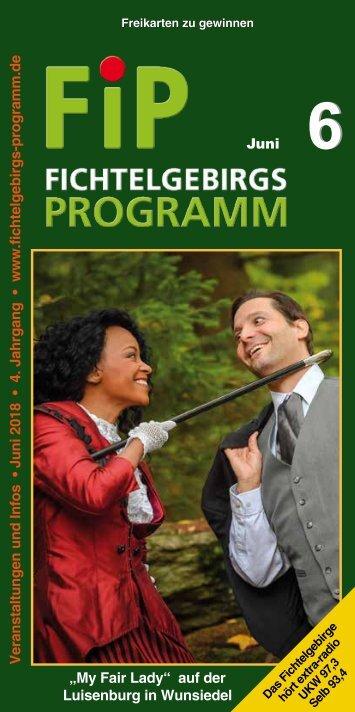 Fichtelgebirgs-Programm - Juni 2018