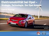 Elektromobilität bei Opel Elektromobilität bei Opel –