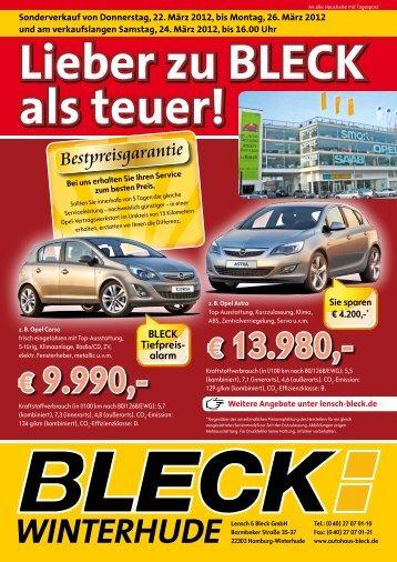 Sie sparen € 4.200,-* BLECK Tiefpreis - Autohaus Lensch & Bleck