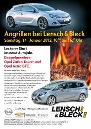 Opel Zafira Tourer und Opel Astra GTC. Angrillen bei Lensch ...