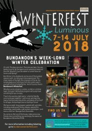 2018 Bundanoon Winterfest Workshop and Events Program