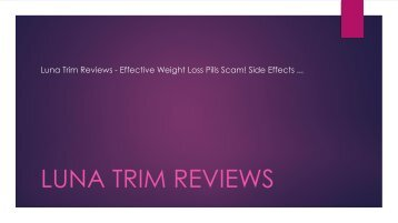Luna Trim Reviews - Natural FAt Burner