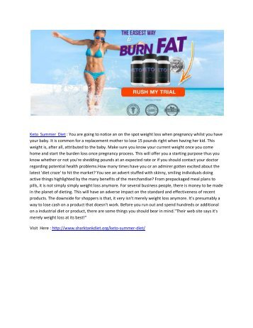 Keto Summer Diet - Give A Proper Shape To Your Body