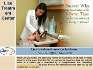 Looking For Lice treatment service In Home