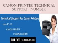 Canon printer  support number +61-1800-431-295