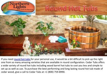Best Quality Round Hot Tubs
