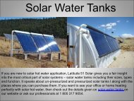 Quality Solar Water Tanks