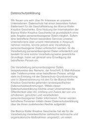 Datenschutzerklärung DGD Bianca Wefer