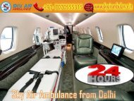 Receive Sky Air Ambulance at a Low Cost from Delhi