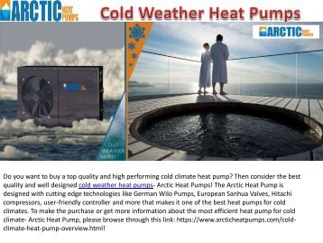 Best Quality Cold Weather Heat Pumps
