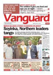 25052018 - BENUE KILLINGS: ETHNIC CLEANSING OR JIHAD? Soyinka, Northern leaders tango
