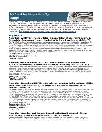 Argentina - Drug Information Association