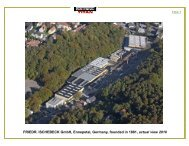 FRIEDR. ISCHEBECK GmbH, Ennepetal, Germany, founded in ...