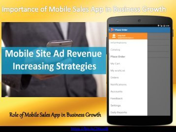 How Your Mobile Sales App Help Grow Your Business