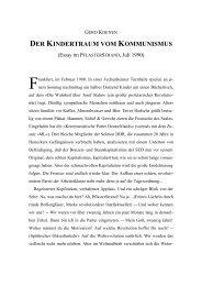 DER KINDERTRAUM VOM KOMMUNISMUS - Gerd Koenen