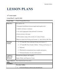 20 Principal Parts & Tenses - Lesson Plan PDF