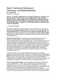 Das 8. Aachener Kolloquium Fahrzeug- und Motorentechnik