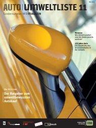 Auto-Umweltliste 2011 - VCS Verkehrs-Club der Schweiz